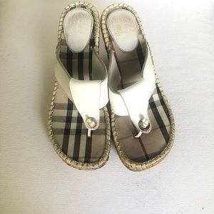 Burberry Nova Check Espadrille Wedges